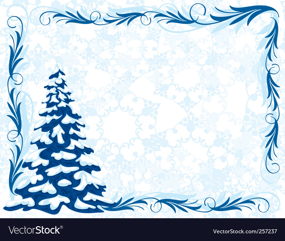 Winter frame vector