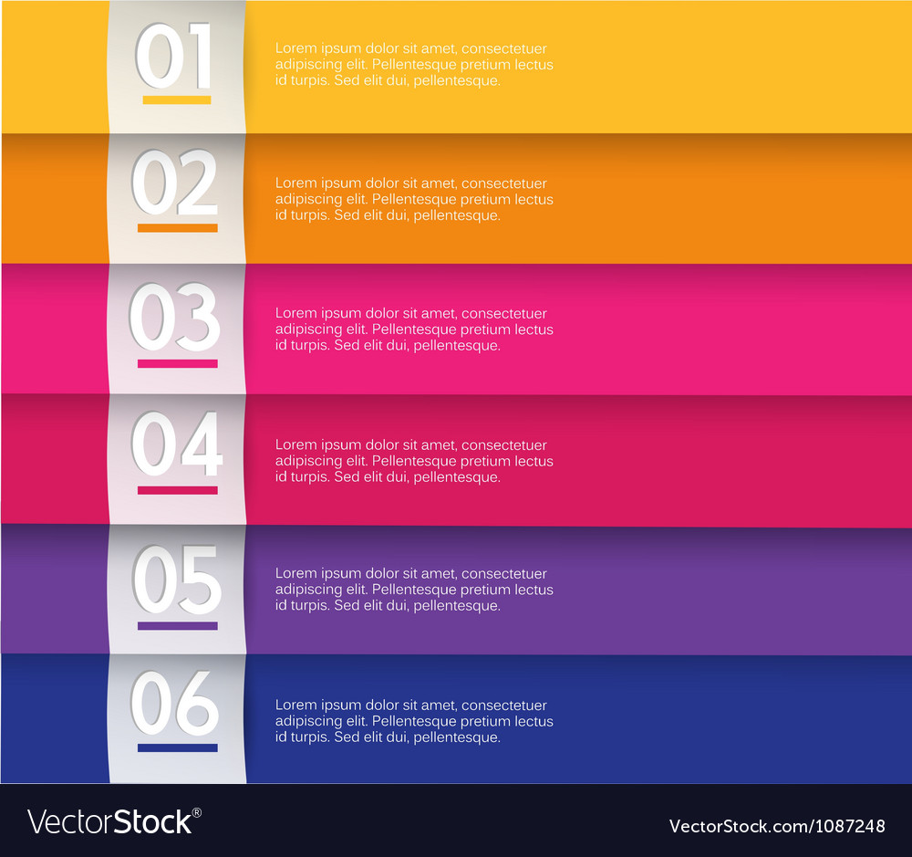 Set of colored stripes with place for your own vector
