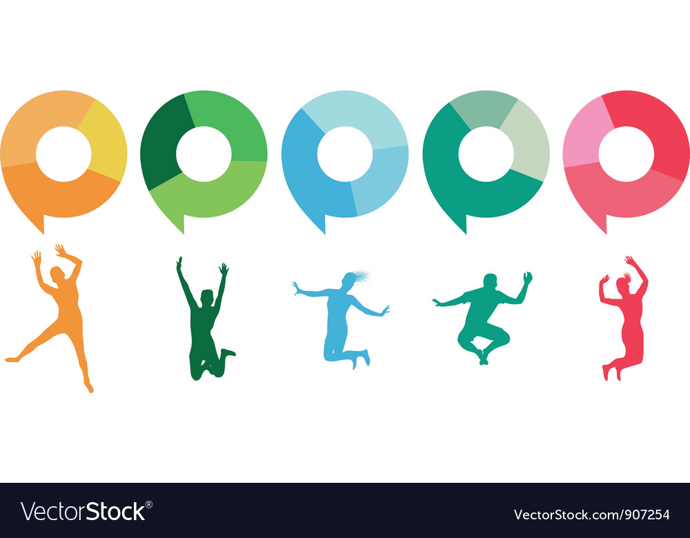 Speech jumpers vector