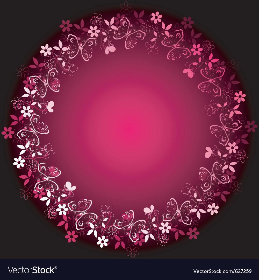 Vivid floral frame vector