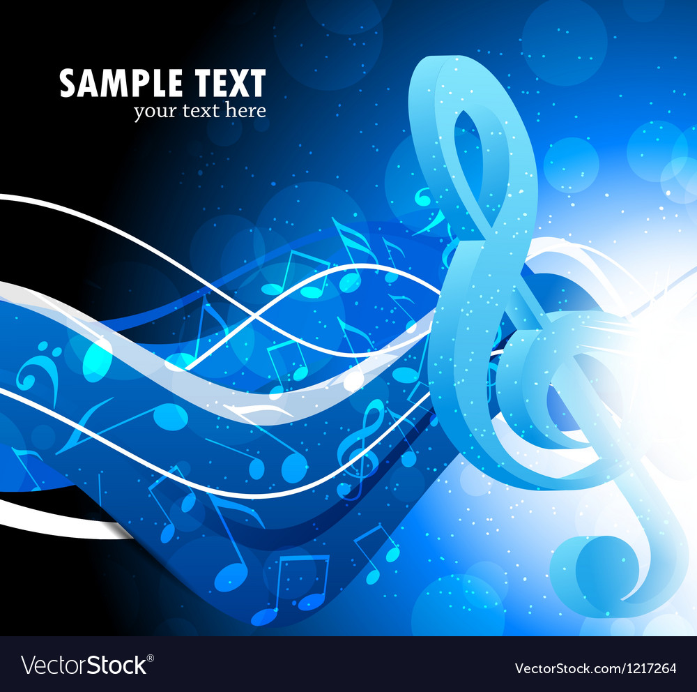 Background with g-clef vector