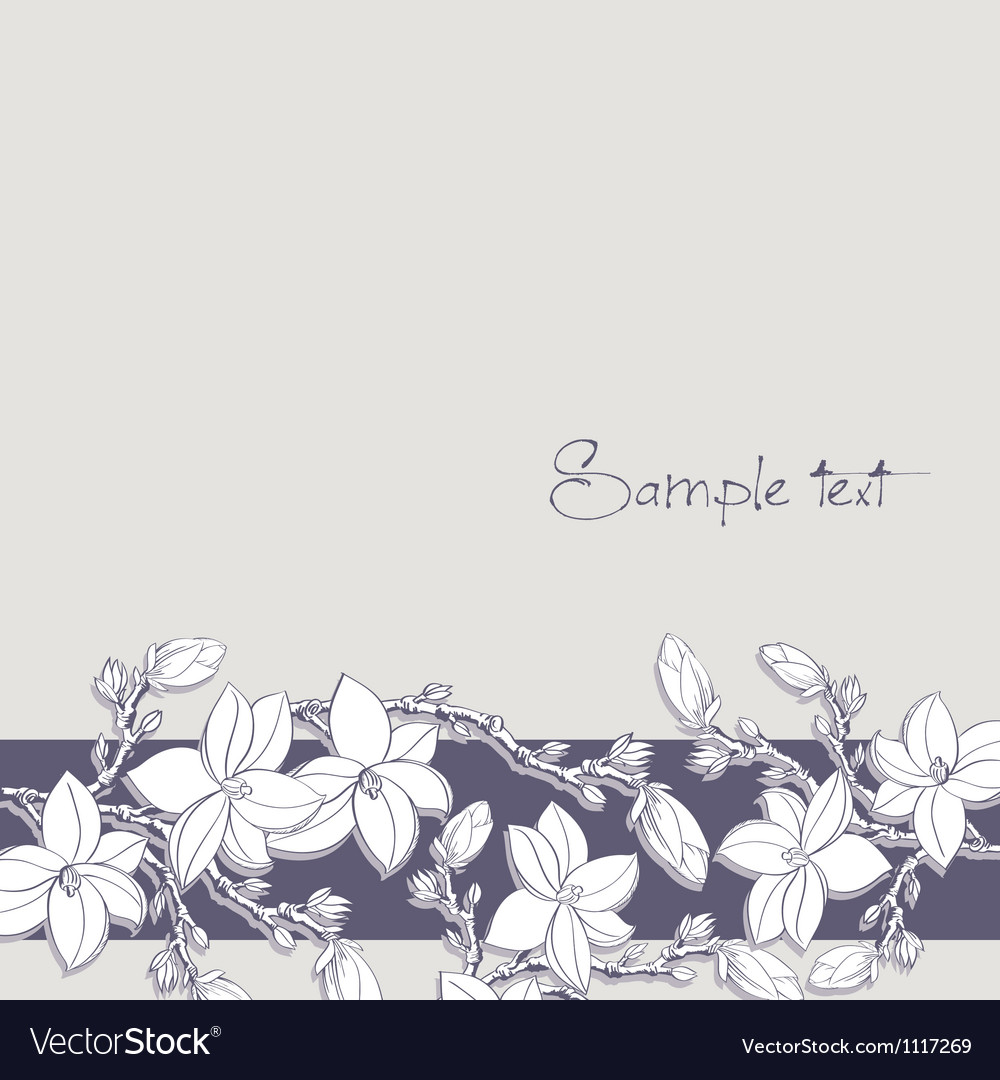 Background magnolia flowers for card or invitation vector