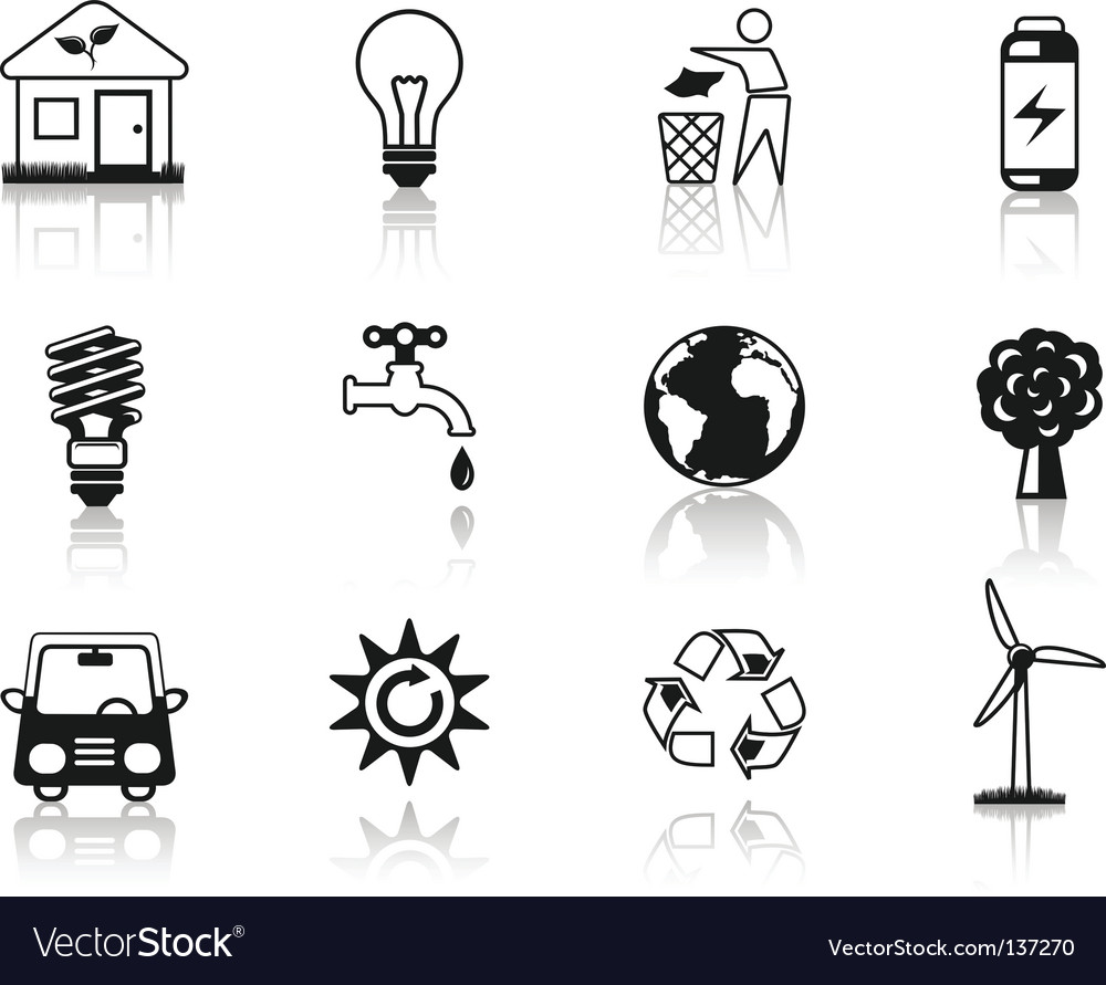 Environment black vector