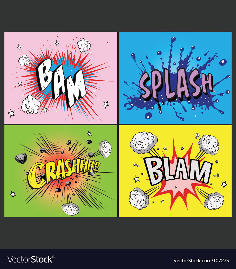 Comic book explosions vector