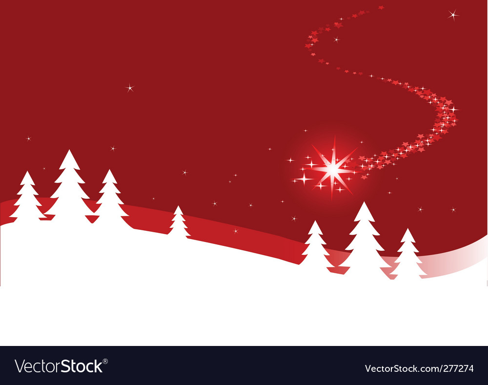 Christmas background with shooting star vector