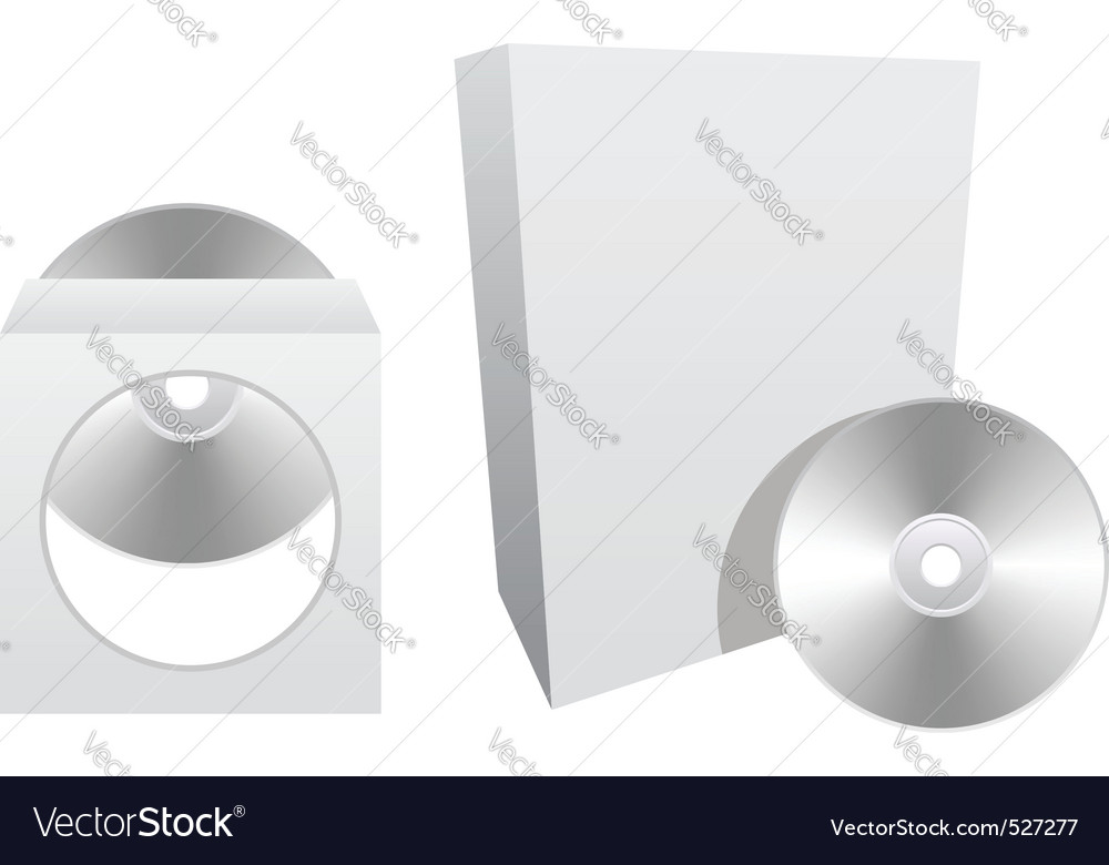 White paper packaging vector