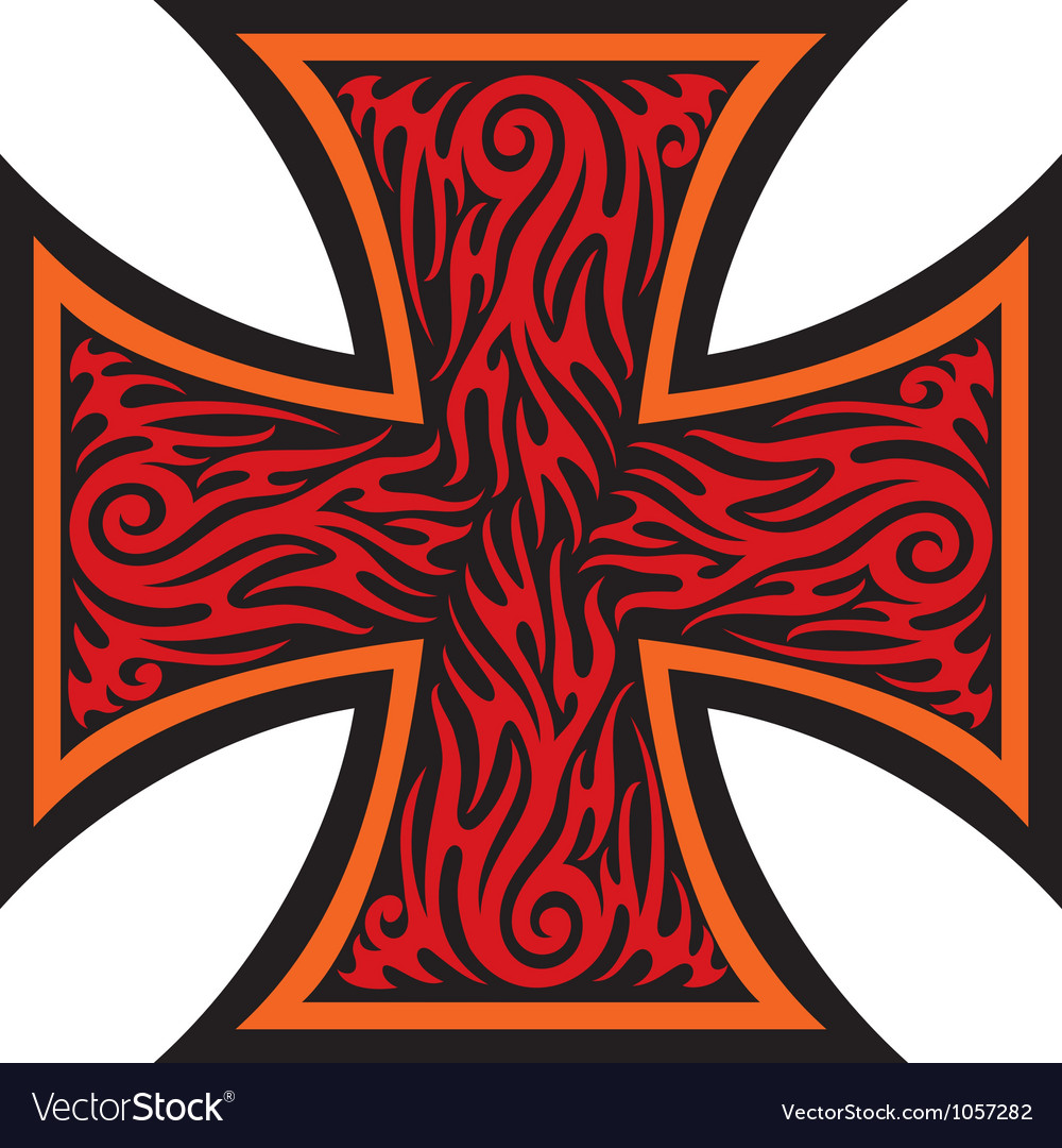 Iron cross tattoo style - tribal style vector