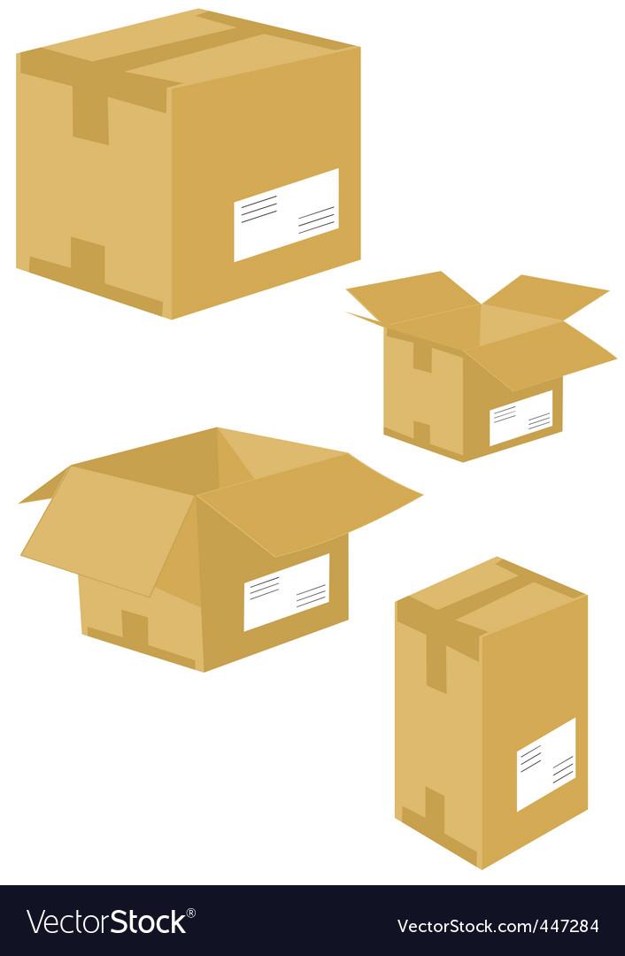 Cartons vector