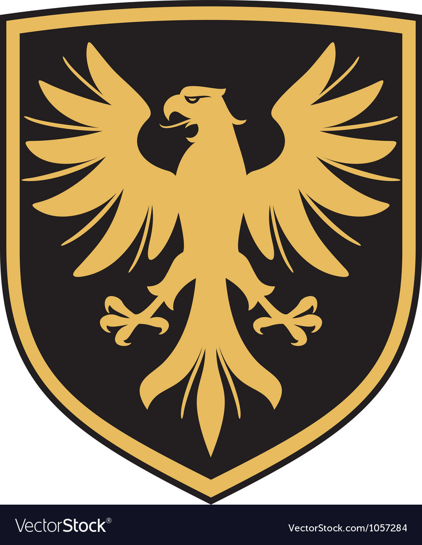 Eagle - coat of arms vector