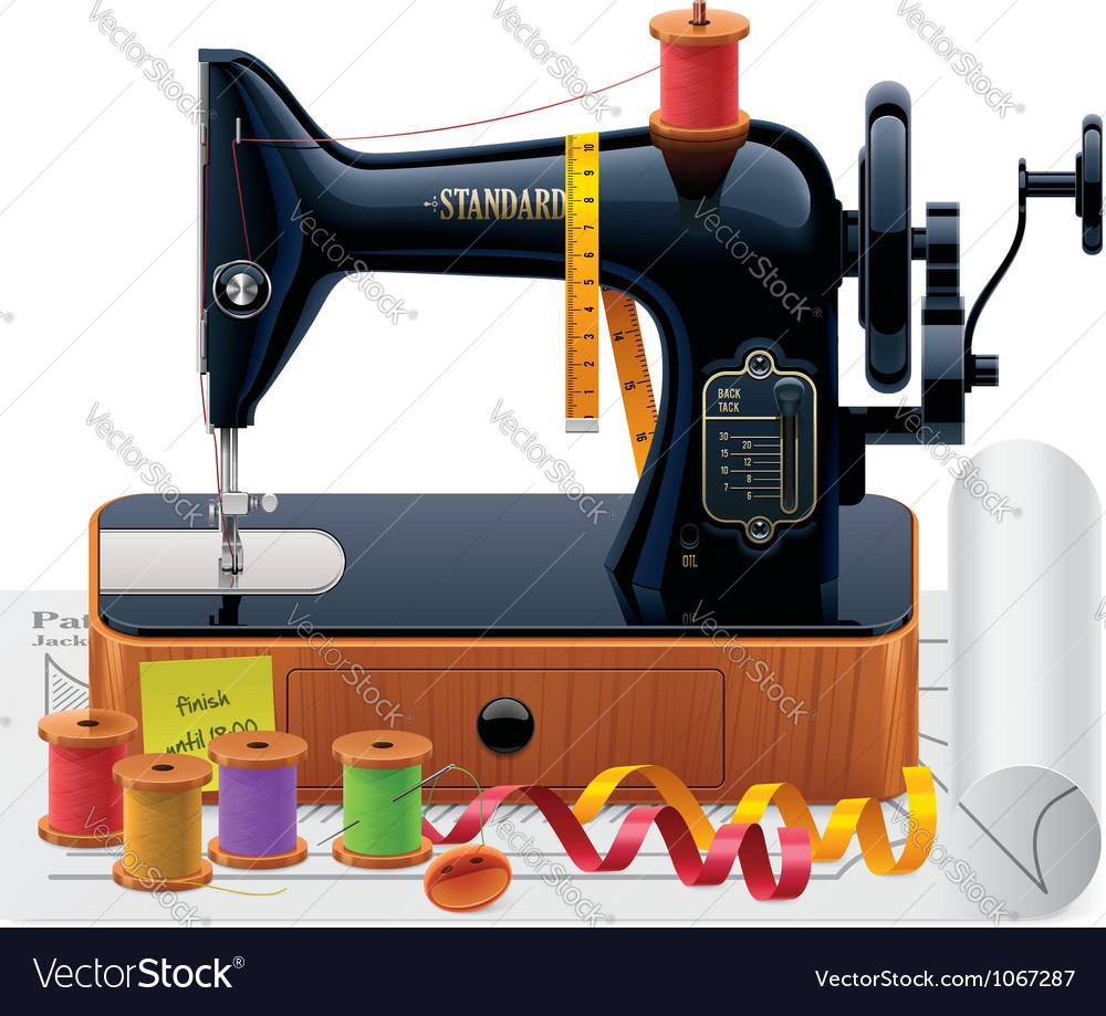 Retro tailoring icon vector