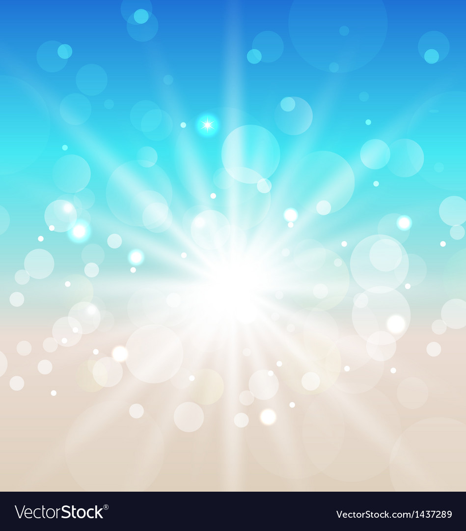Summer beach background with sunlight vector