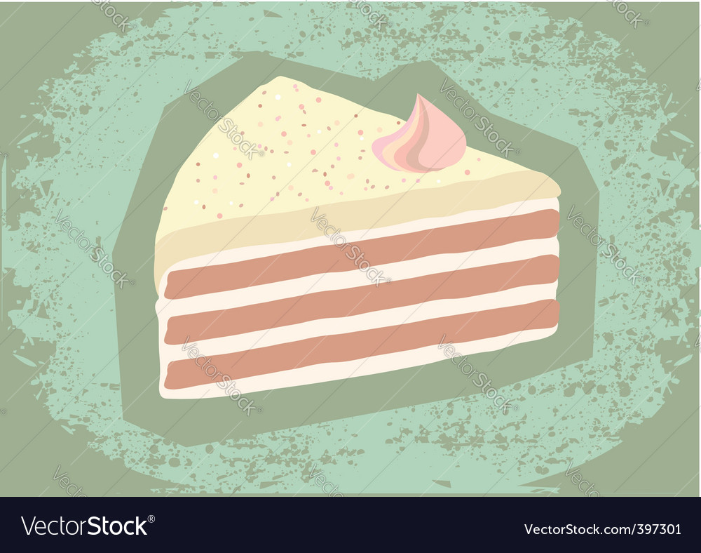 Retro grunge cake vector