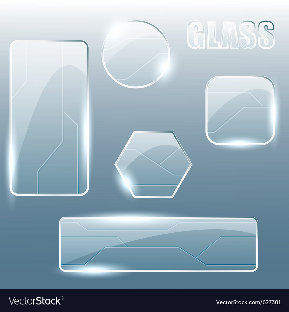 Transparent glass banners vector