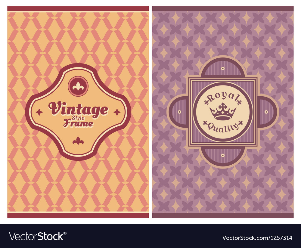 Invitation vintage retro cards vector