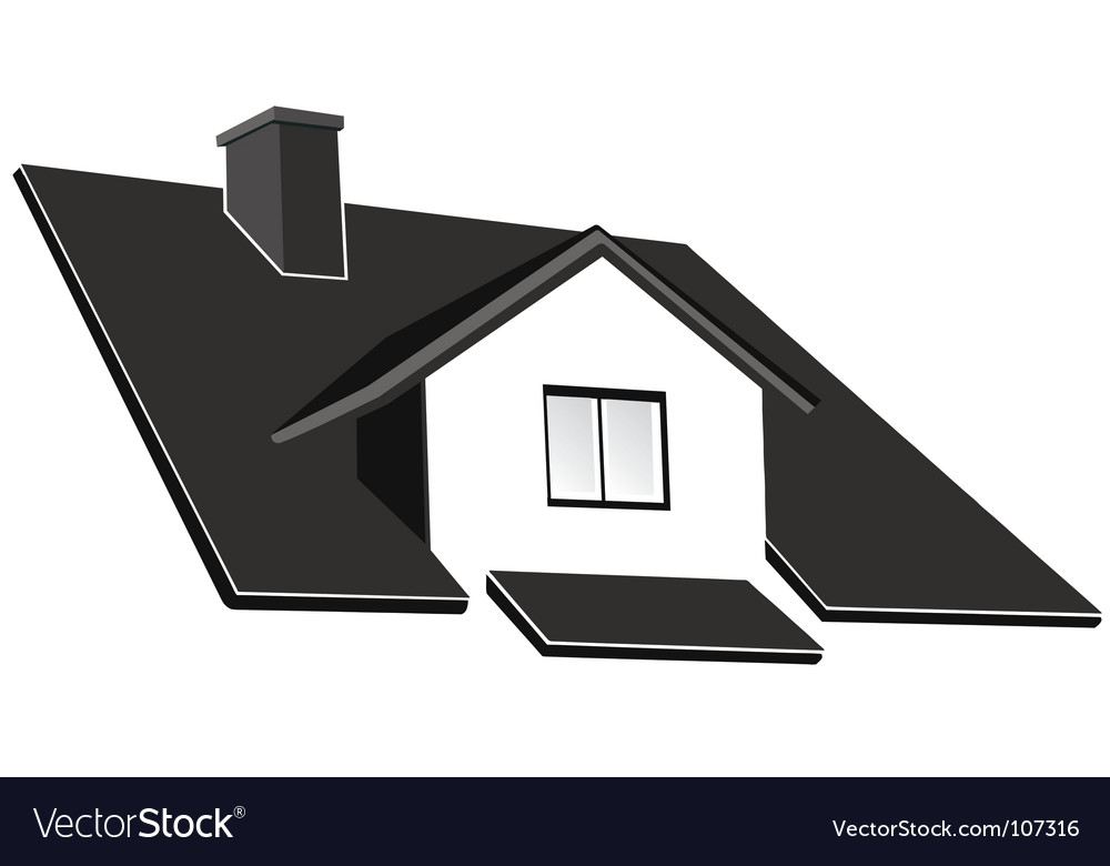 House roof vector