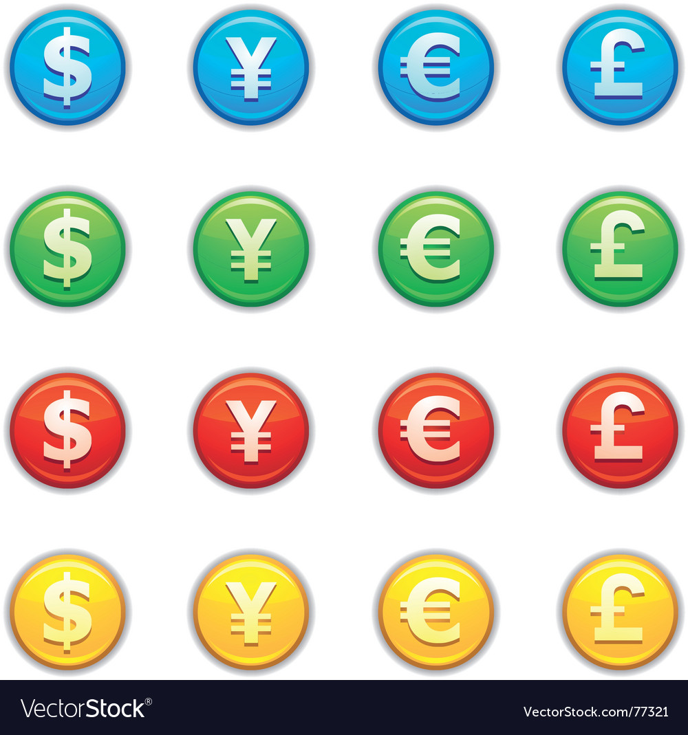 Currency icon vector
