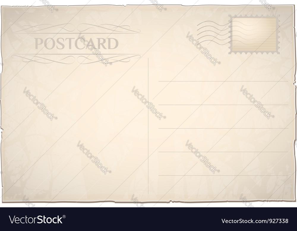 Postcard blank vector