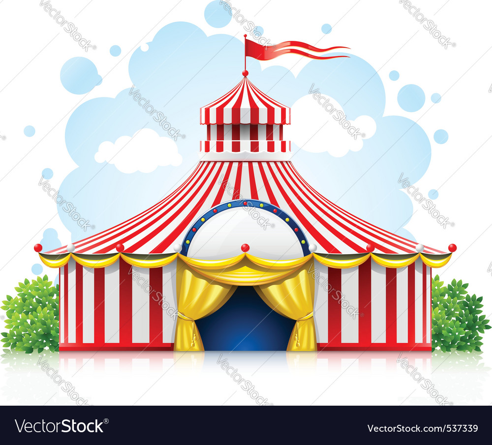 Striped strolling circus vector