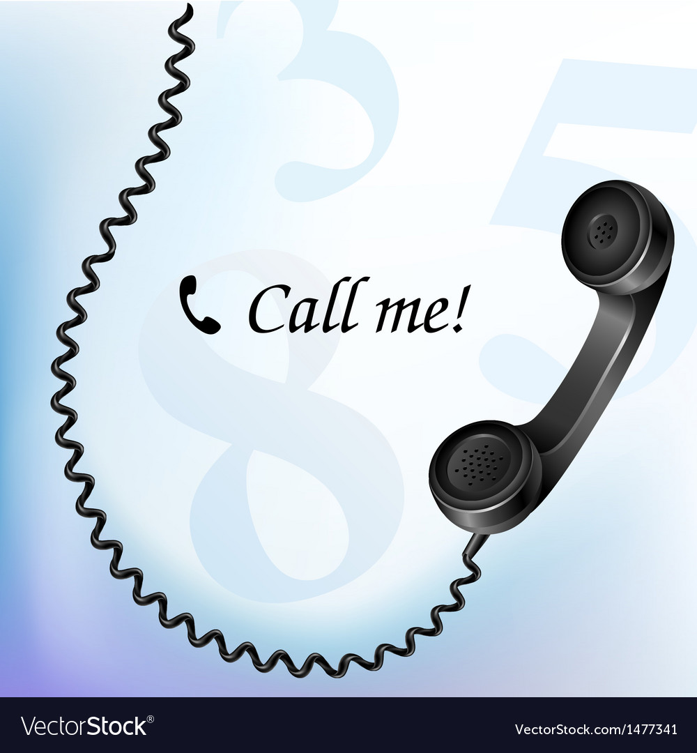Telephone with wire vector