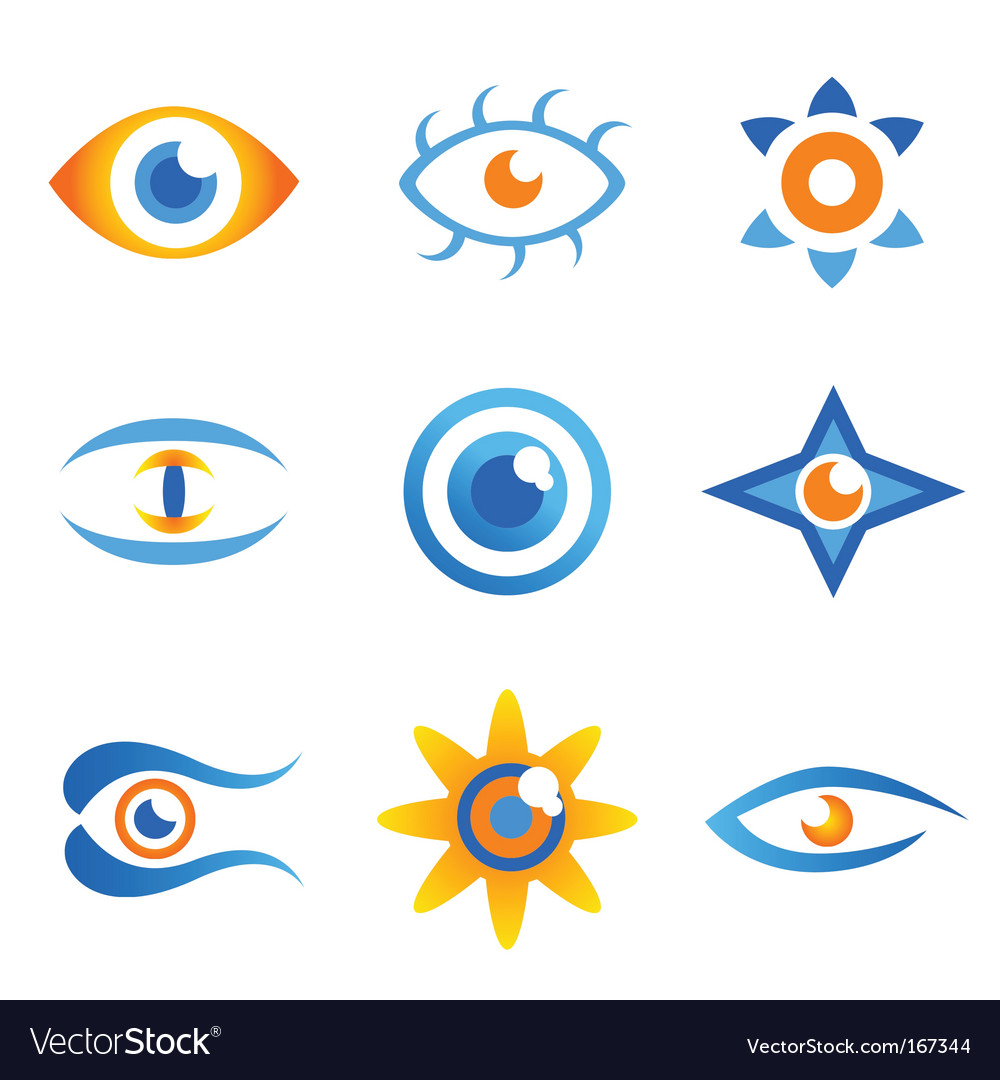 Set of eye symbols vector