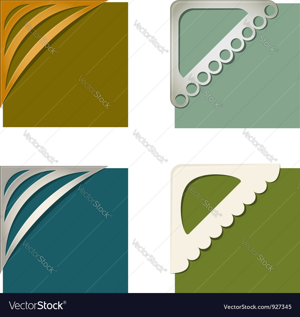 Set of photo corners vector