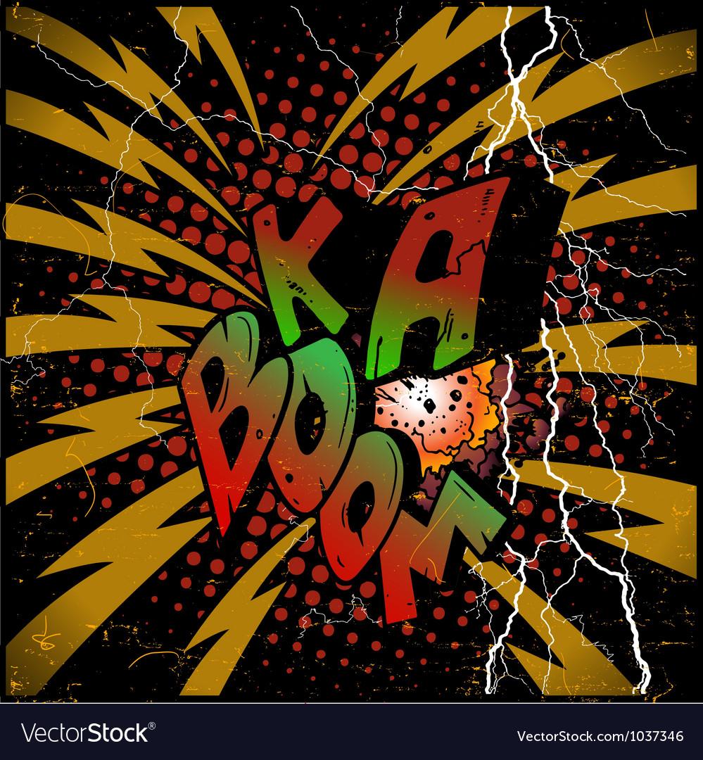 Ka-boom explosion vector