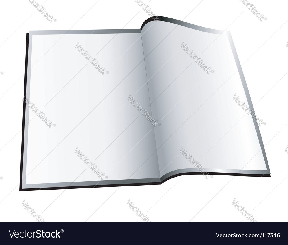 Open booklet vector