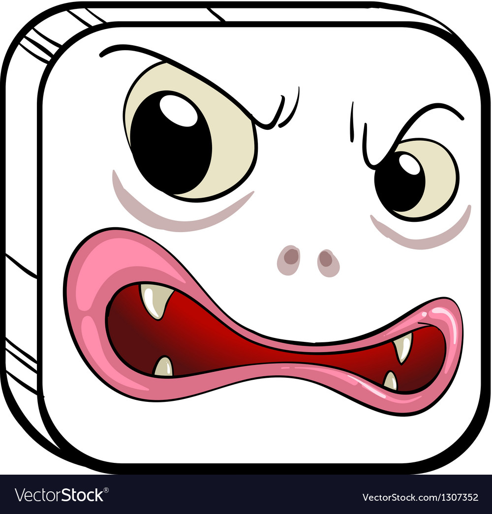 A square shaped face vector