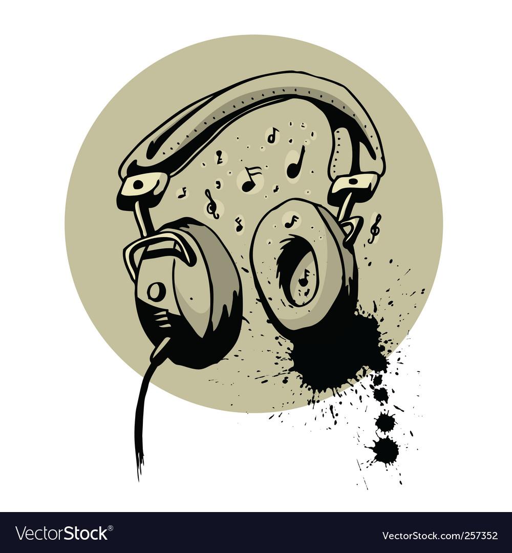 Headphone drawing vector