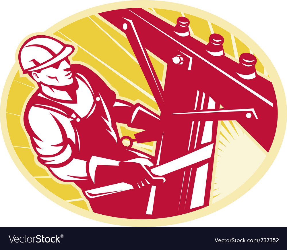 Lineman electrician vector