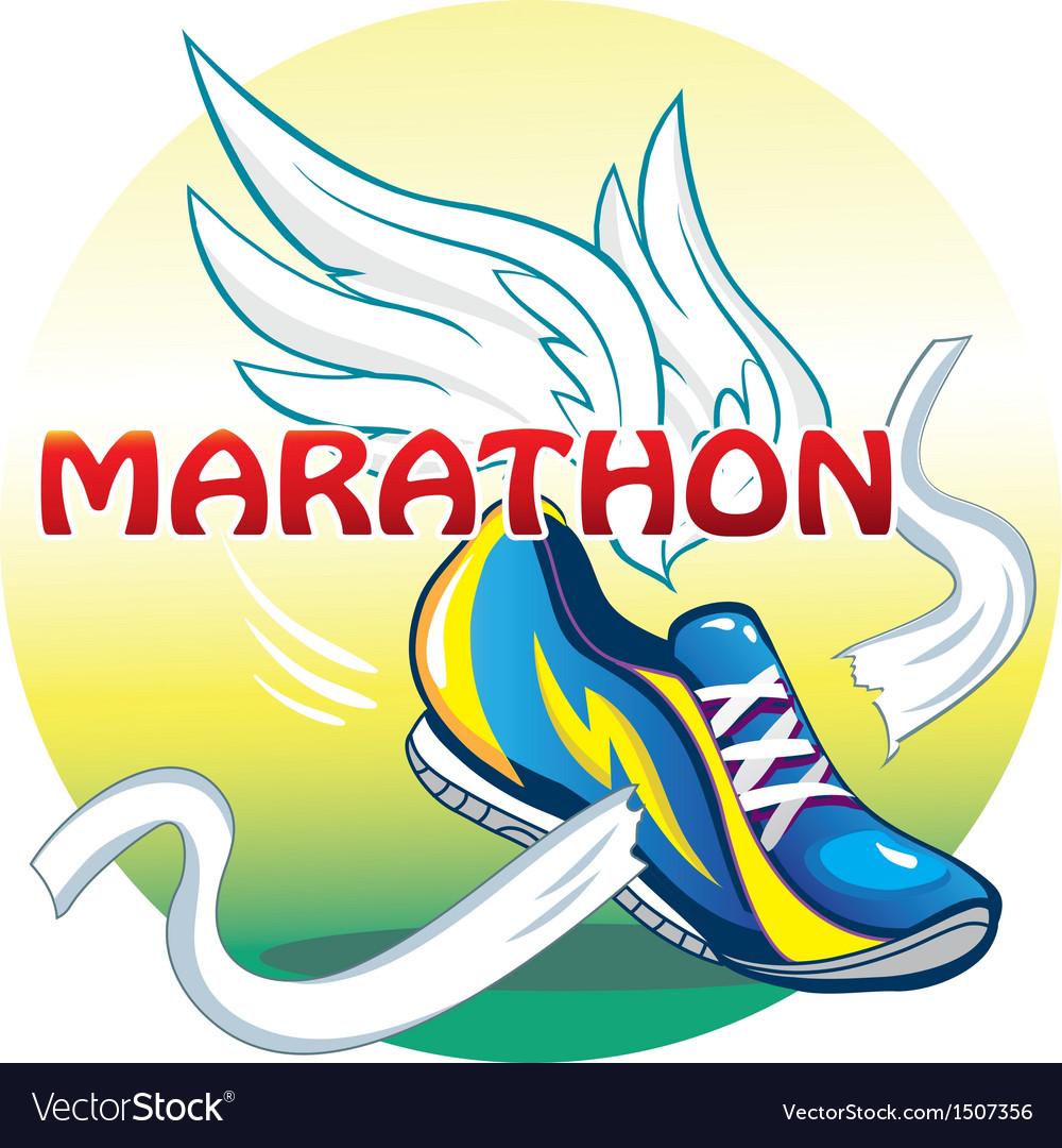 Emblem of the marathon vector