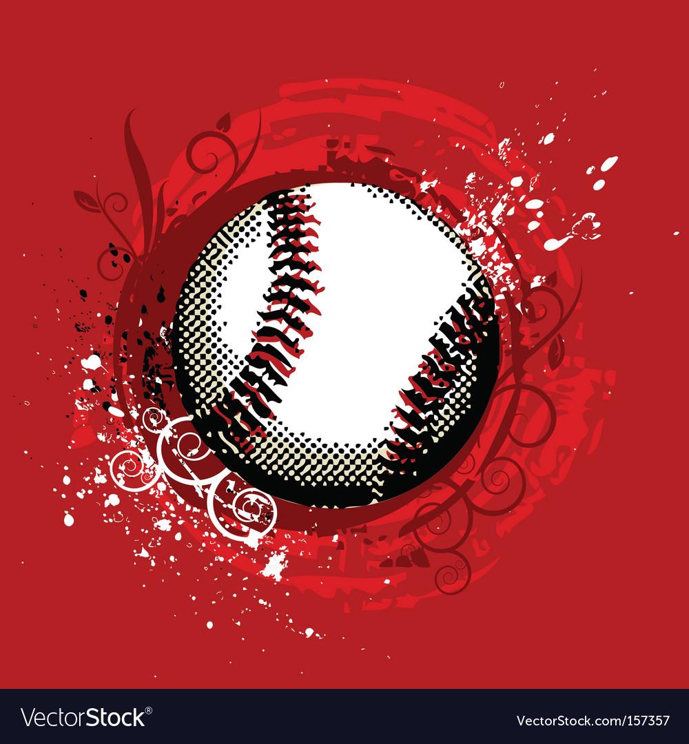 Grunge baseball vector