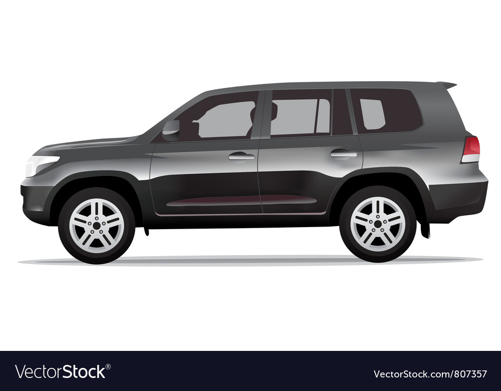 Sport utility vehicle car vector