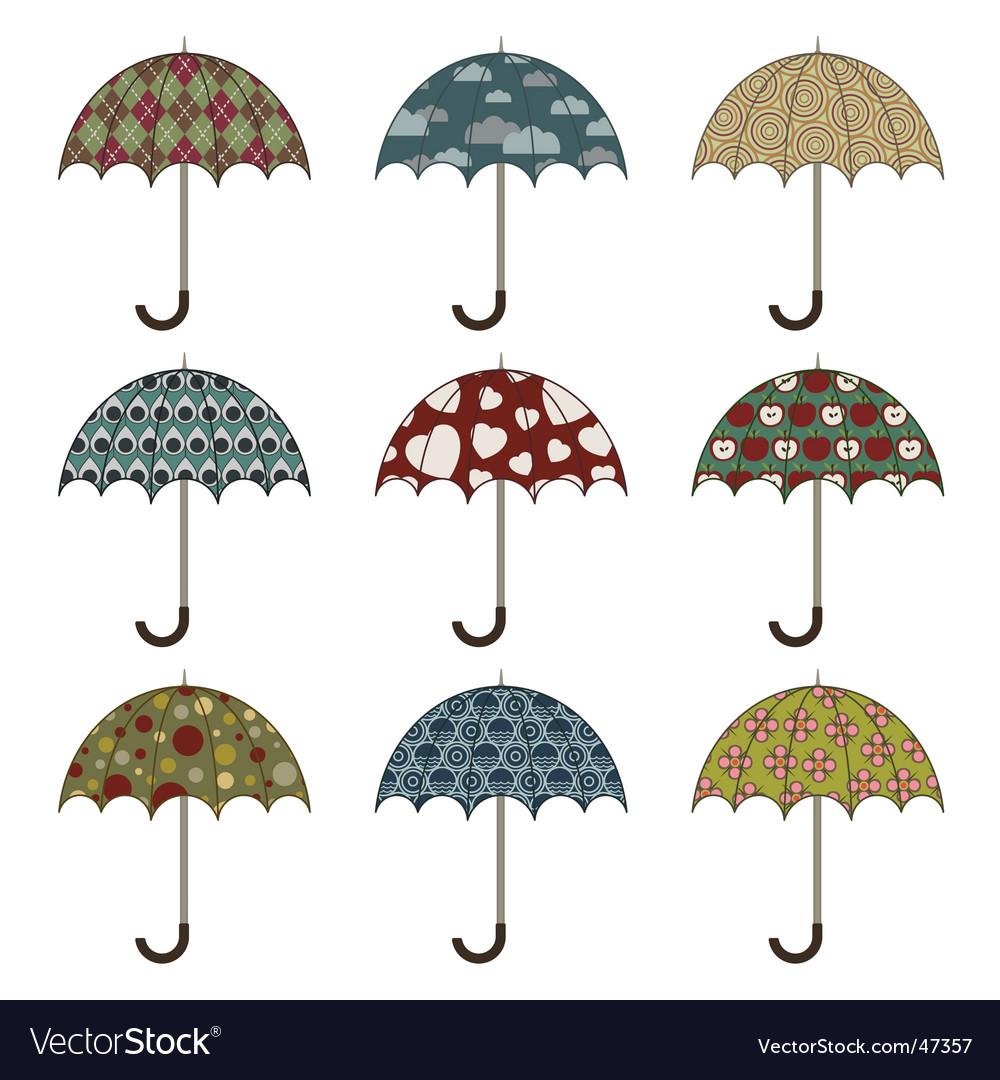 Umbrellas vector
