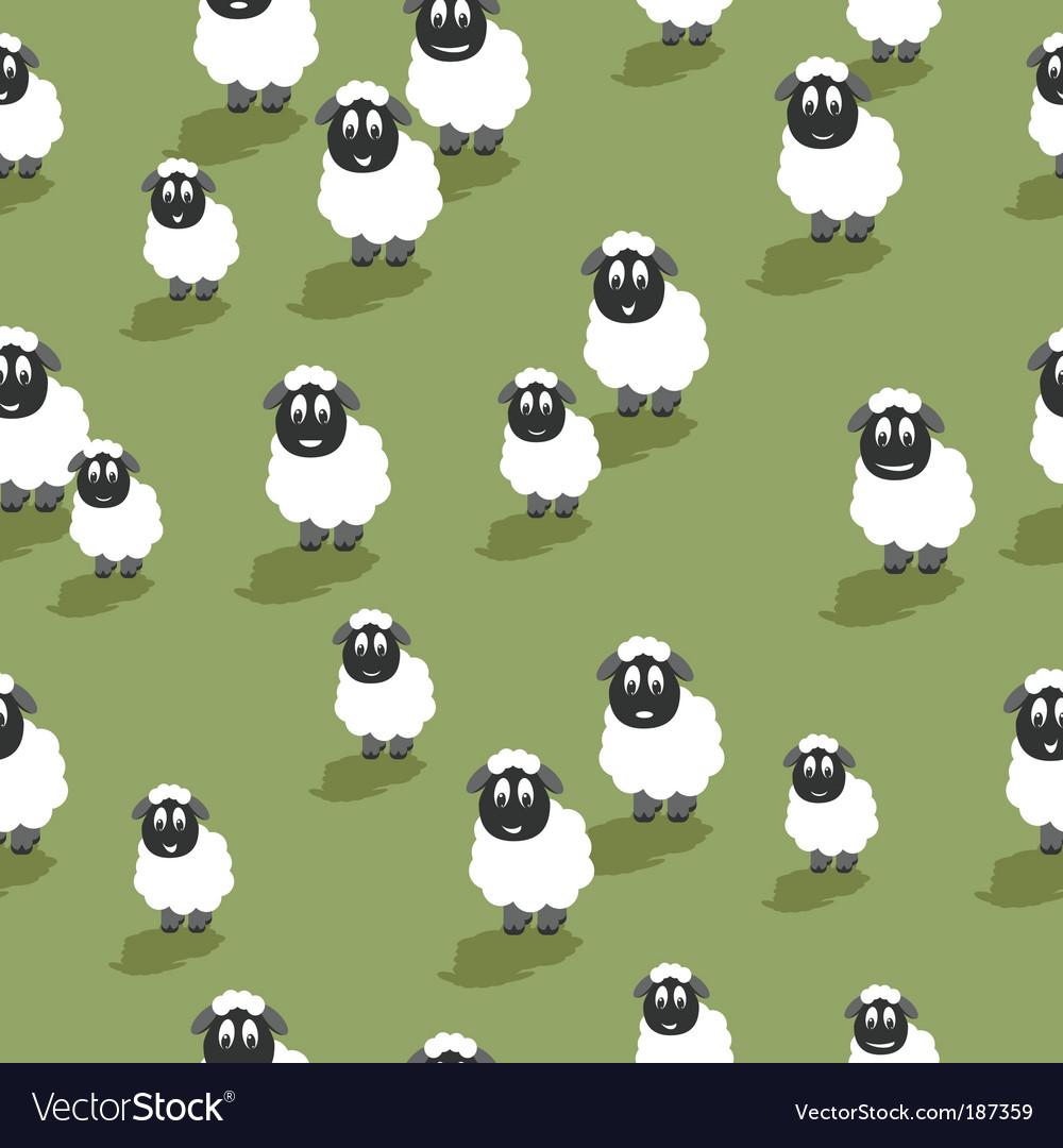 Seamless sheep vector