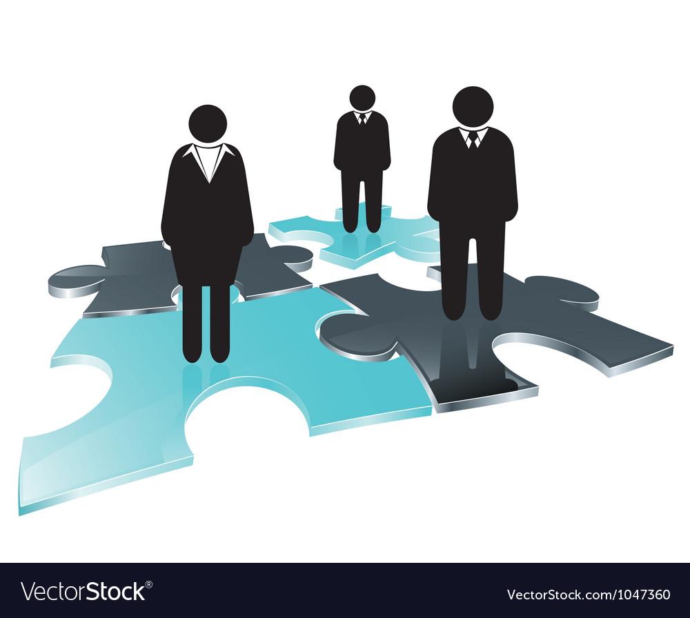 Puzzle team vector