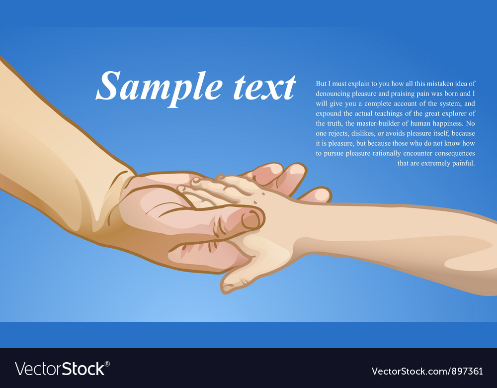 Childrens hand in the hand of an adult vector