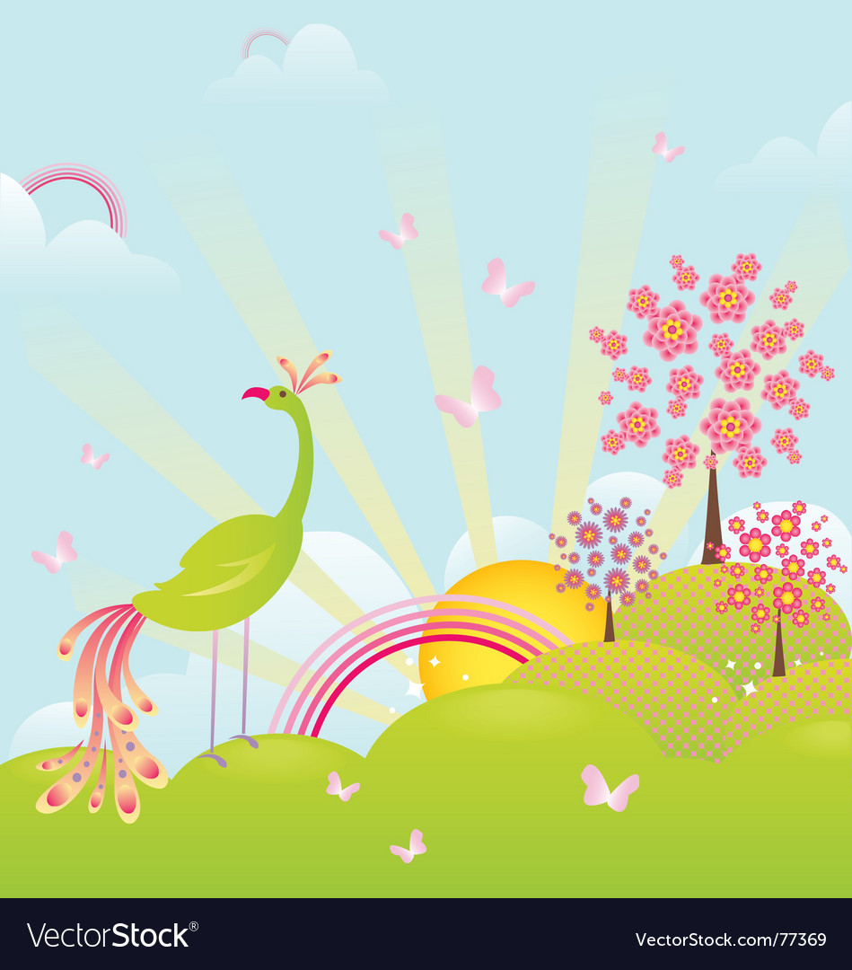 Free enchanting landscape vector