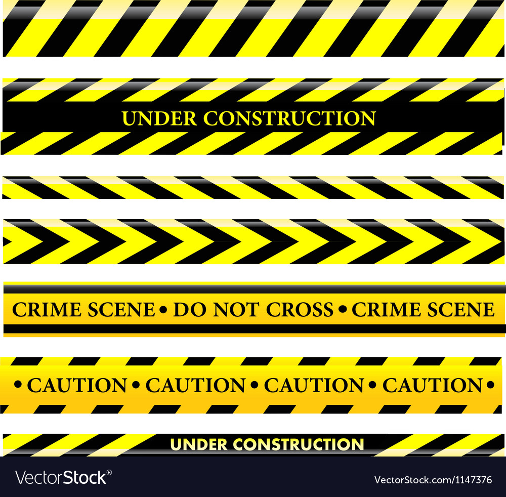 Set of danger and police lines vector