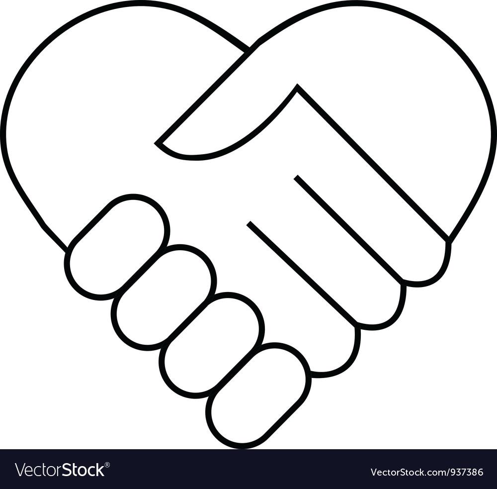 Hand shake logo vector