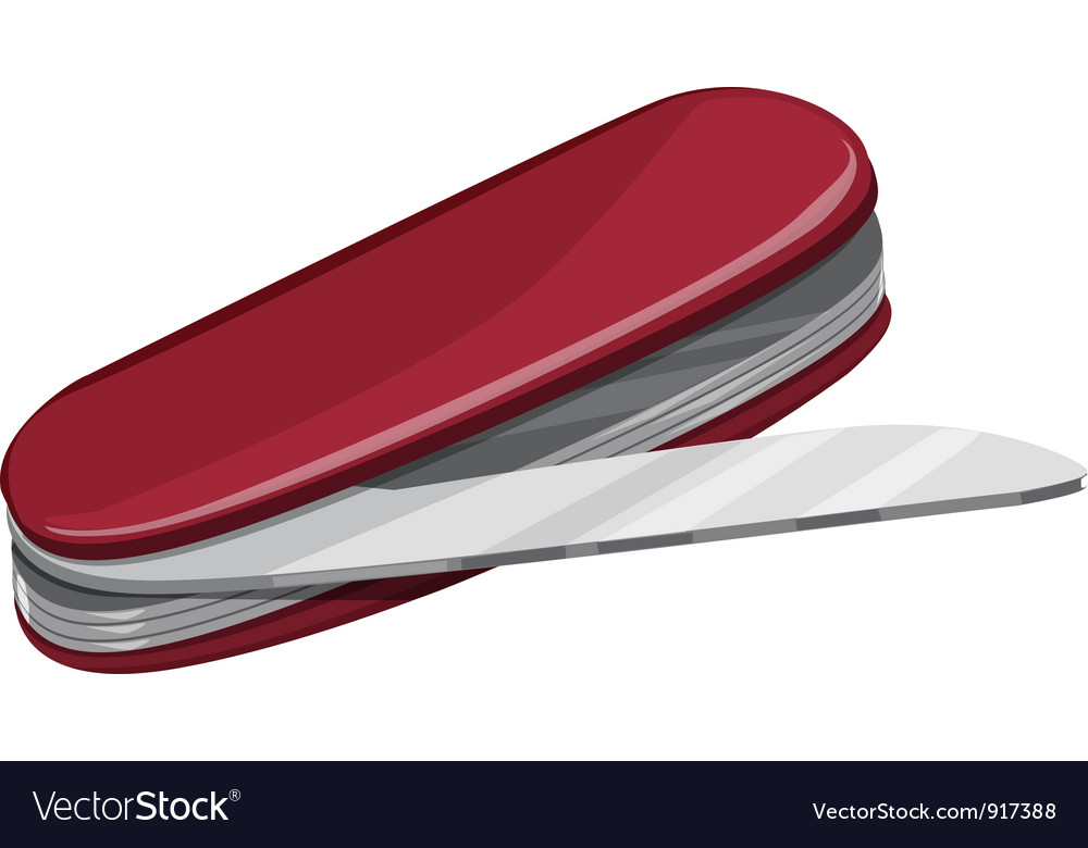 Survival knife on white vector