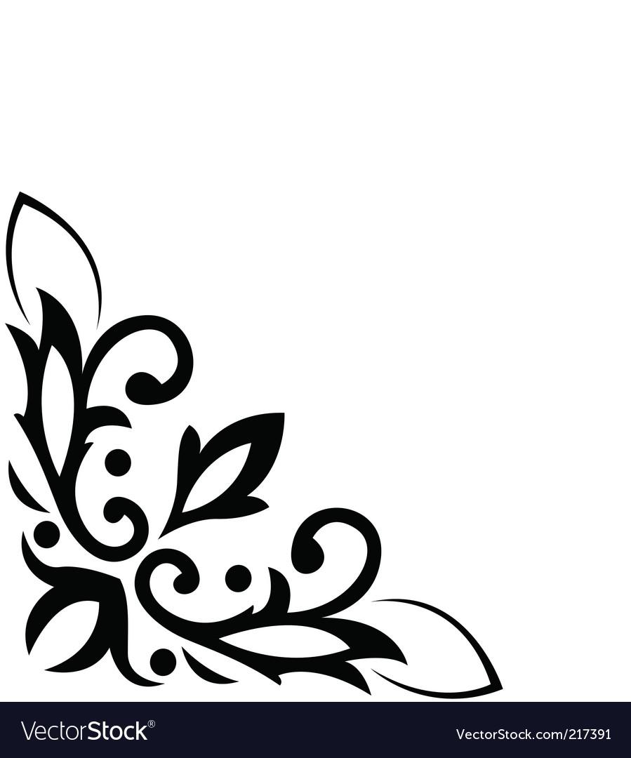 Floral corner pattern vector
