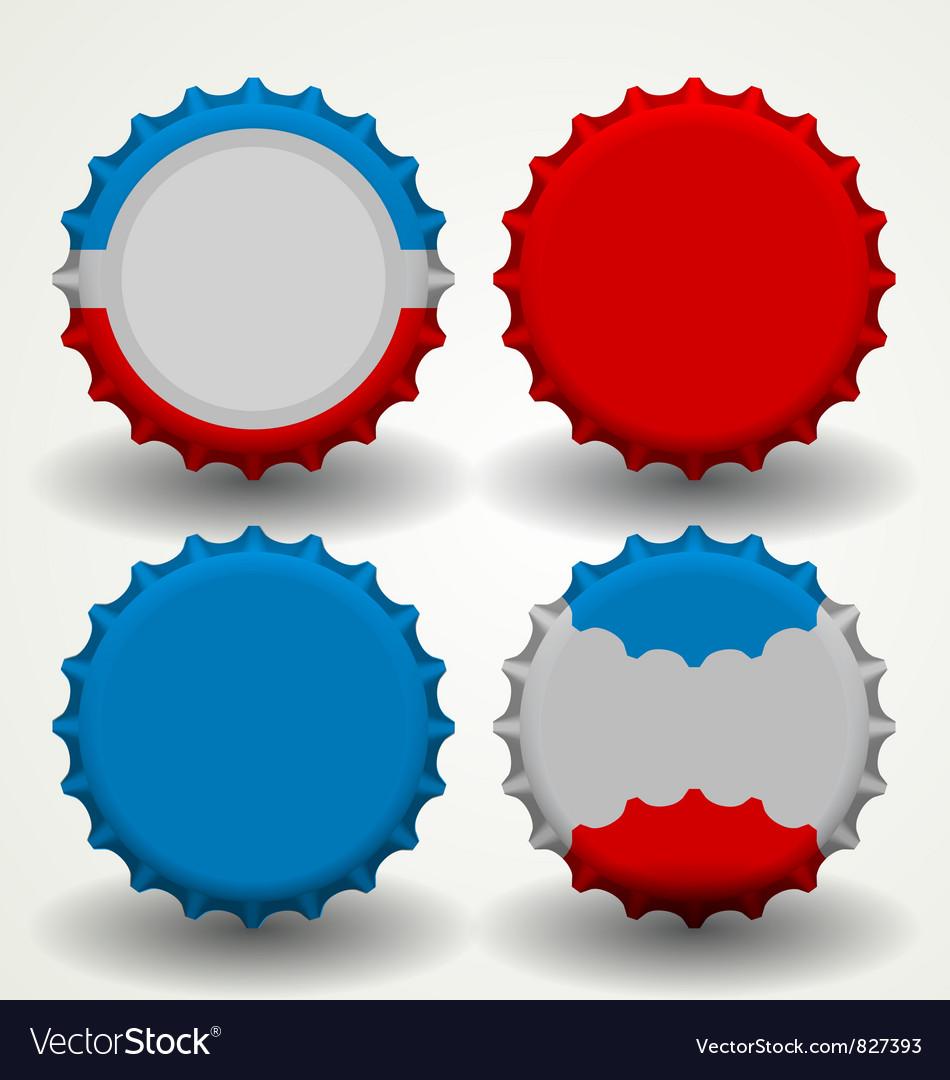 Bottle caps vector