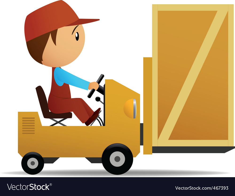 Loader and box vector