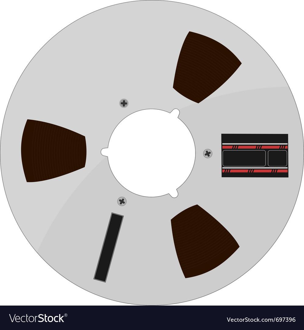 Of a tape bobbin vector