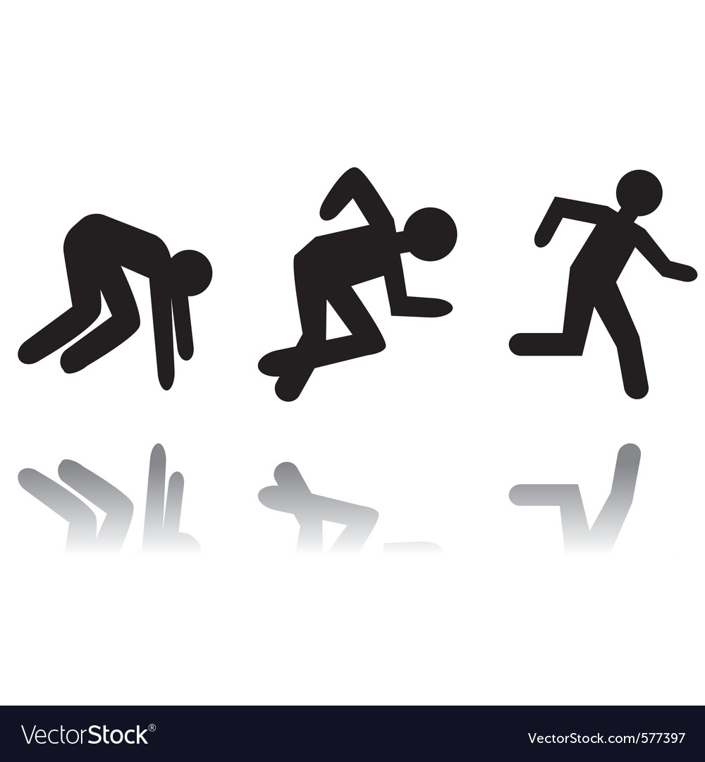 Running man icon vector