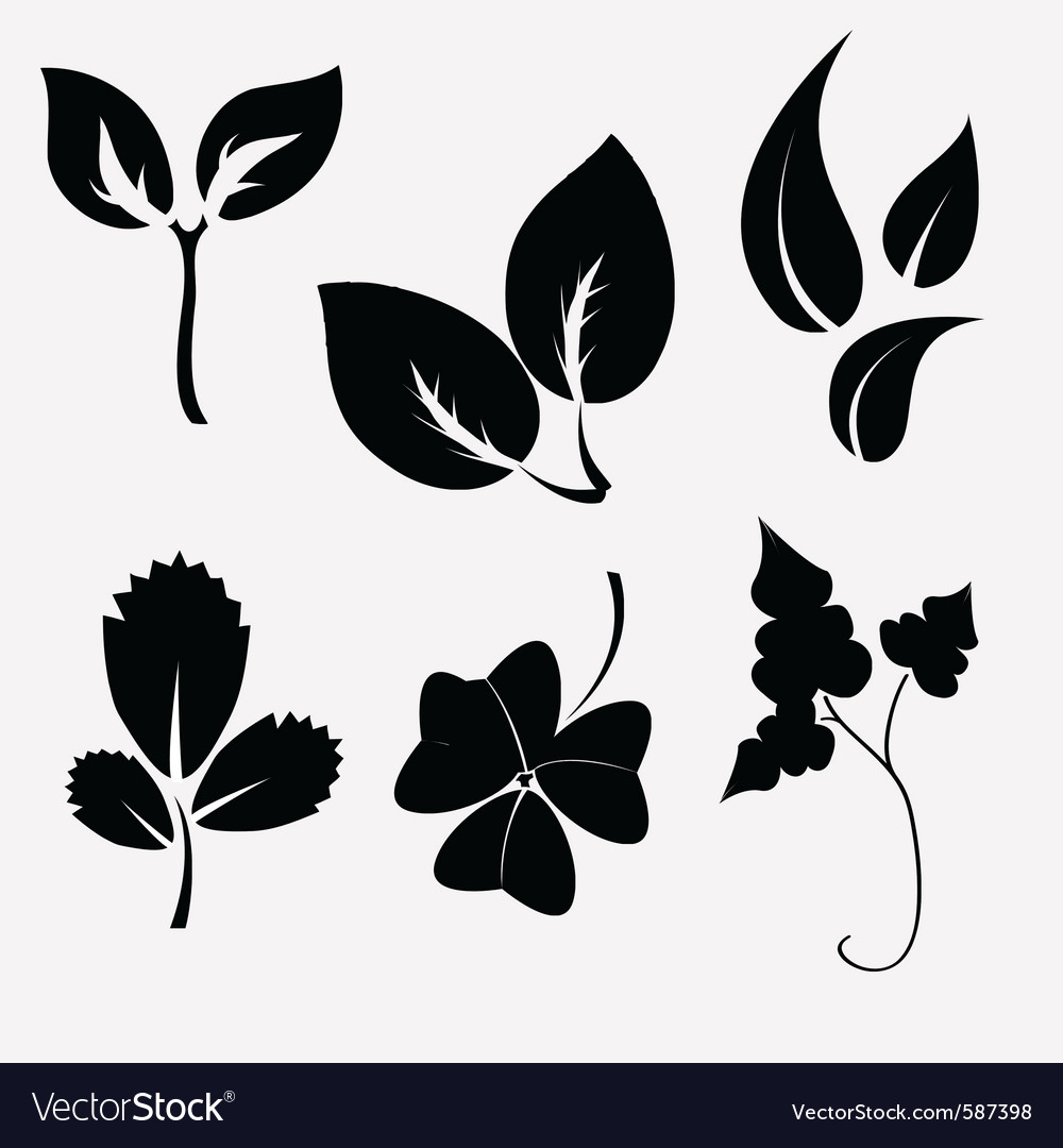 Leaves silhouettes vector by trilingstudio image 587398