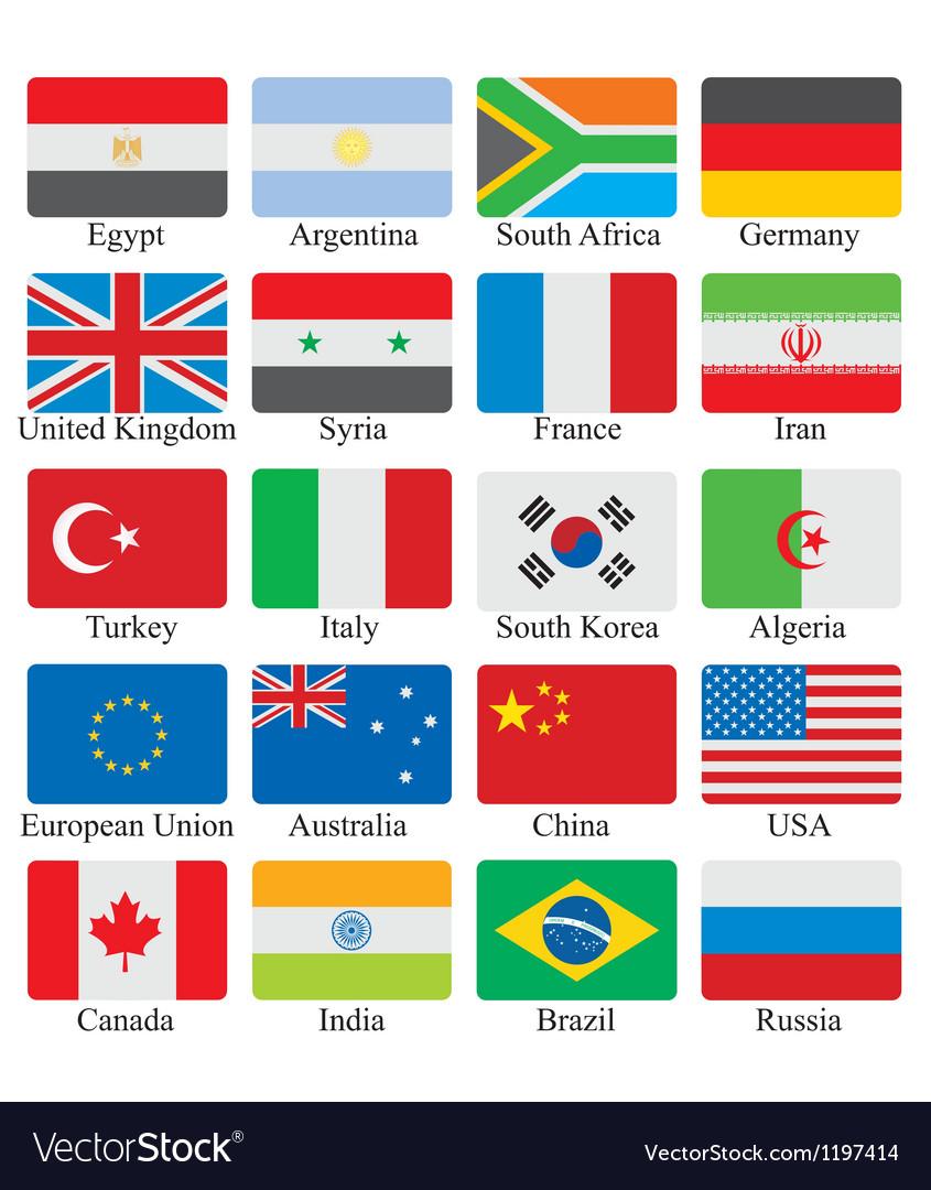 Flags set vector