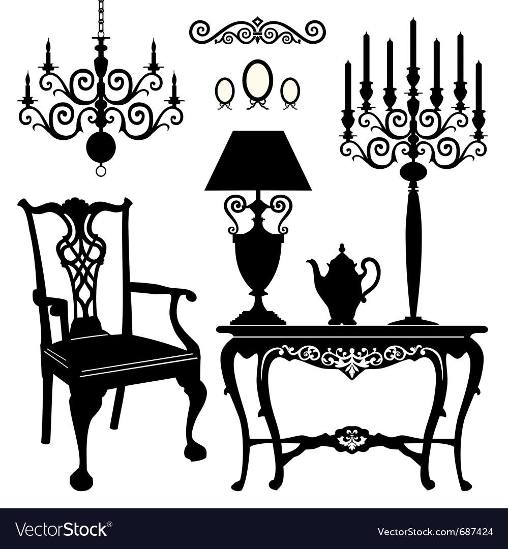 Antique furniture vect...