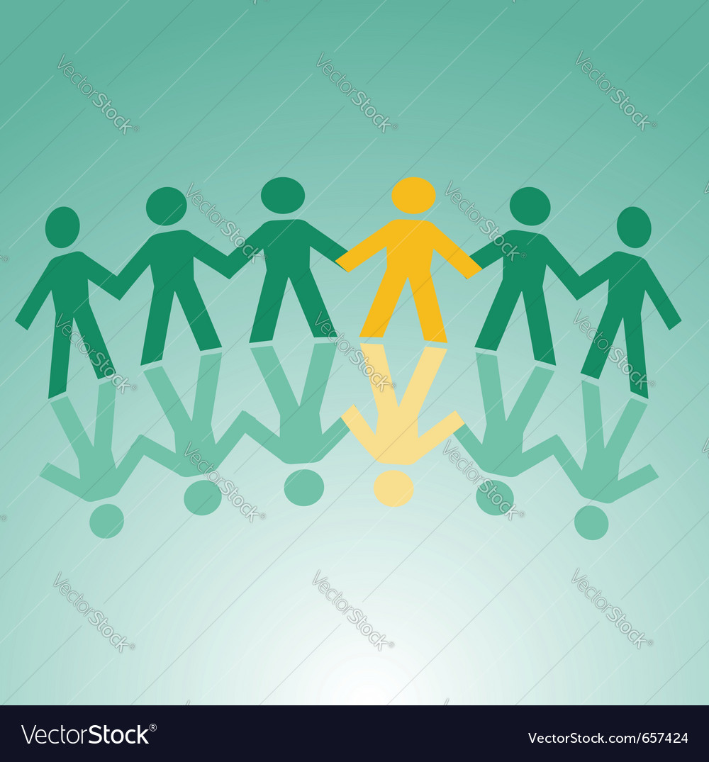 Paper cut people vector